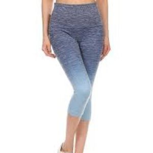 Yelete Leggings Blue Ombre Super High Rise Shaping